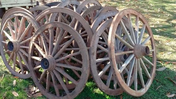 Roda De Carroça Antiga De 1,08m! Venda Por Unidade!