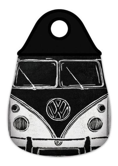 Lixeira Para Carro Neopreme Lixeirinha Kombi Preto E Branco