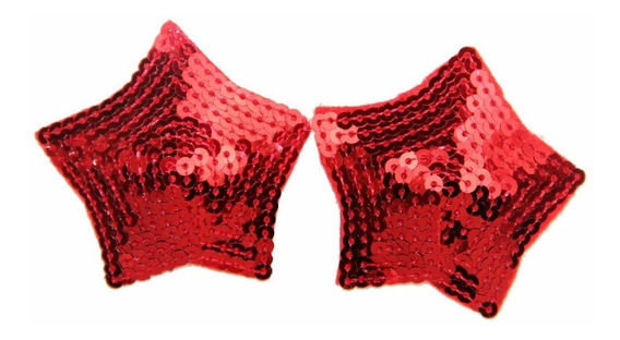 Pezoneras Estrella Color Rojo 1 Par