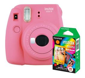 Câmera Instantânea Instax Fujifilm Mini 9 Flamingo+filme 10