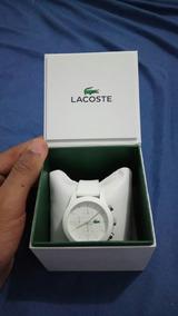 Relógio Lacoste Original Masculino Branco Unico