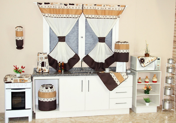 Kit Jogo De Cozinha C/cortina + Toalha 6 Cadeiras Isabela 12pç Especial