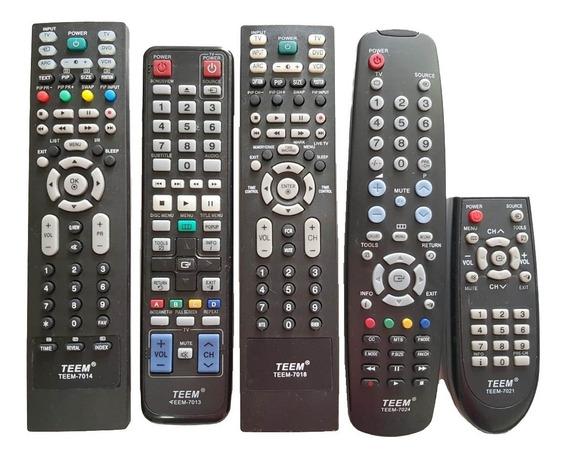 Controle Remoto Tv Lcd Led Teem - Kit 30 Pçs Misto - Atacado