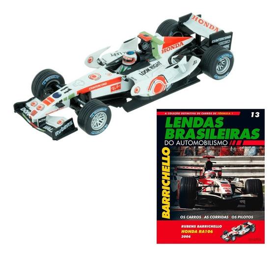 Miniatura Fórmula 1 F1 Rubens Barrichello Honda Ra106 2006