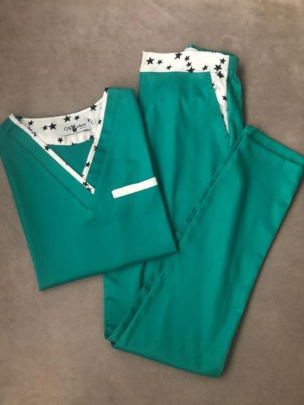 Olli Ambos Diseño Mujer Poplin Elastizado Verde Moli