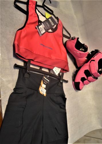 Imagem 1 de 9 de Top Sxtr Energy Rosa+bermuda S/forro Hupi+sapatilha Grool
