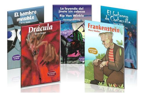 Imagen 1 de 10 de Pack 5 Libros De Terror A Color P Niños Dracula Frankenstein