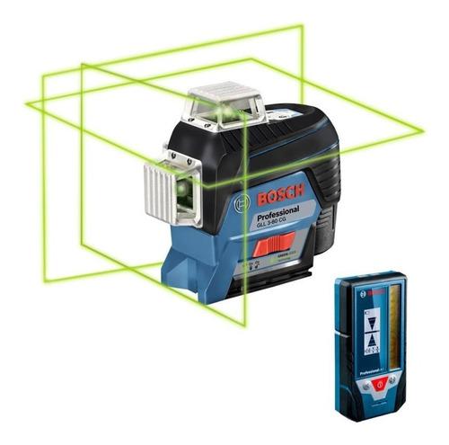 Imagem 1 de 3 de Nível Laser De Linhas Gll 3-80 Cg Linha Verde Receptor Bosch