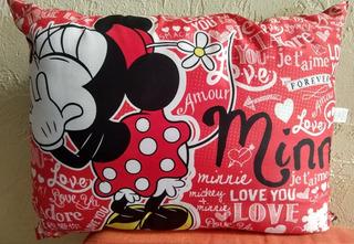 Almohadas Mickey Y Mimmie Corazón Amor