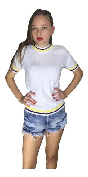 Blusa Barata De Verao Promoção Moda Casual Feminina Tricô