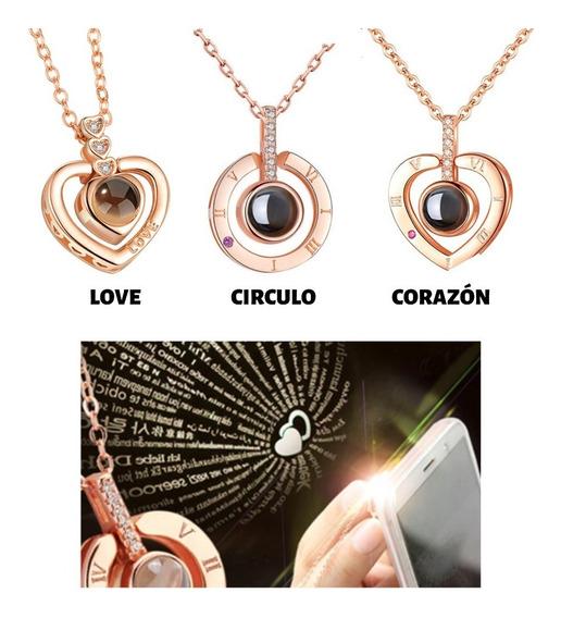Collar Romantico Proyeccion Te Amo 100 Idiomas Mpb-280