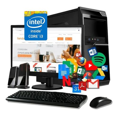 Imagen 1 de 5 de Computadora Intel Core I3 8gb Ssd240gb W10 + Monitor