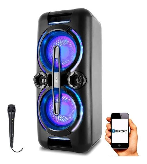 Caixa De Som Amplificada 500w Bluetooth Philco Pcx8000 1 Mic