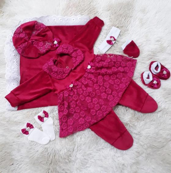 Kit Saída Maternidade Bebê Menina Enxoval P/ Sua Princesa