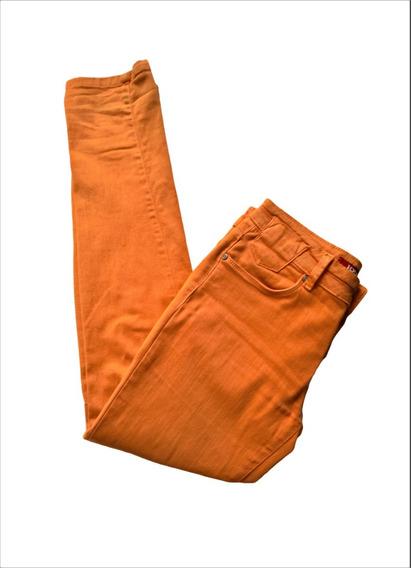 Calça Laranja Iodice Sarja Jeans Color Feminina Skinny 38