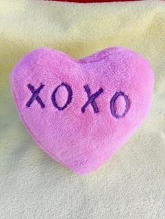 Peluche Corazón 15cm. (preg. Colores Disponibles)