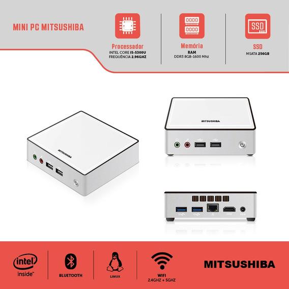 Computador Mini Pc Intel Nuc Core I5 5300u 8g Ssd 256g Linux Mitsushiba