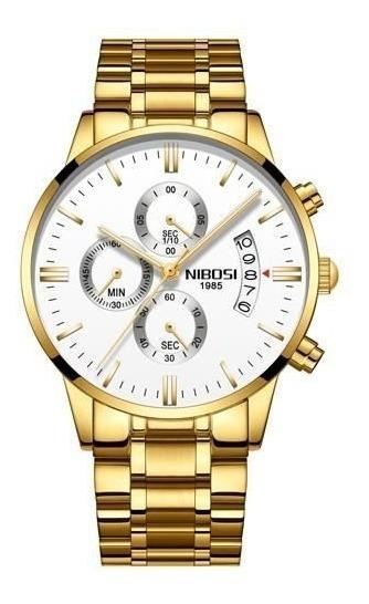 Relógio Masculino Nibosi 2309 Original 100% Funcional Luxo