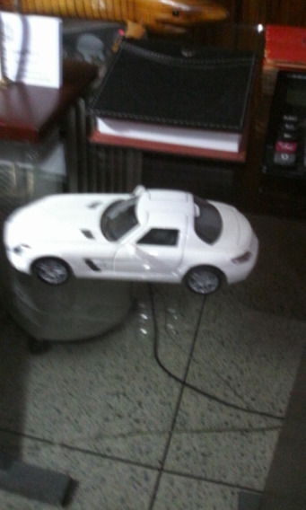 Carro De Juguete A Escala, Mercedes Benz Sls Amg. Blanco