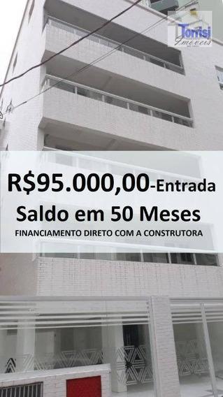 Apartamento Em Praia Grande, 01 Dormitório, Sala Com Sacada Goumet, Guilhermina, Ap2366 - Ap2366
