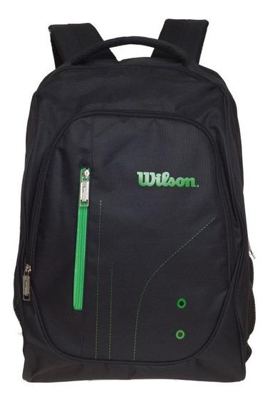 Mochila Clasica Wilson Negro/negro/verde