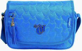 Bolsa Tiracolo Carteiro Feminina Dermiwil - Love Azul