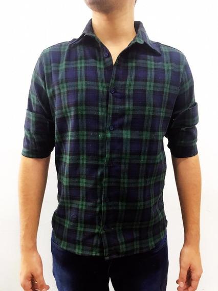 Camisa Flanela Xadrez Masculino Manga Longa Lenhador Fit Top