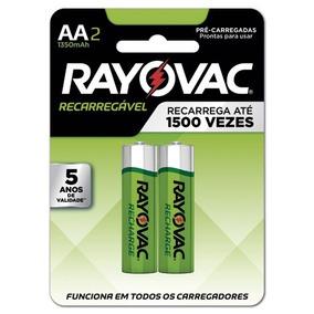 Pilha Recarregável Aa2 Rayovac Pequena C/2 5 Cartelas 10 Un