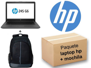Laptop Hp 245 G6 Amd E2 4 Gb 500 Gb 3xv16la#abm + Mochila