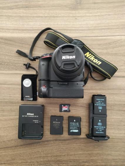 Câmera Nikon D5100 Usada + Lente + Grip + 4 Baterias + 32gb