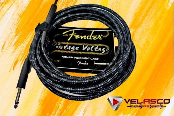 Cable De Instrumento Fender Original Vintage Voltage 6mt
