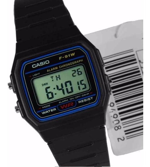 Relógio F91 Preto Casio Unissex Retro F91 Original