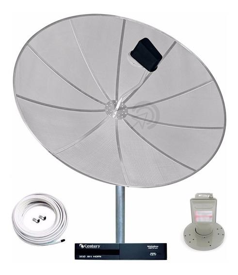 Antena Parabólica Completa Receptor Century Midiabox B3 Hdtv