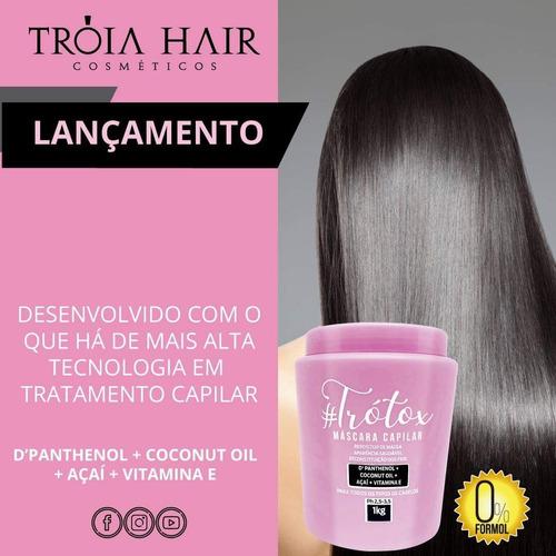 Trotox Orgânico Tróia Hair 1kg Lançamento Sem Formol #trotox | Mercado Livre