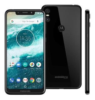 Smartphone Motorola One Xt1941 Preto 64gbtela Vitrine