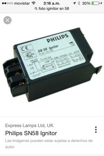 Ignitor Sn 58 Philips Sodio Hasta 400w Voltaje 380v V5