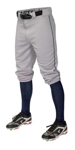 Easton Pro Piped Knicker Pantalón Gris Béisbol Infantil L
