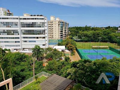 Apartamento Com 3 Dormitórios Para Alugar, 132 M² Por R$ 4.000/mês - Alphaville I - Salvador/ba - Ap0330