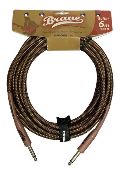 Cable Plug Linea Instrumento Proel Brave 100lu6by 6 Metros - Cuotas