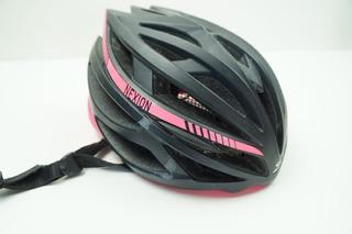 Capacete Bike Spiuk Nexion Cor Preto Com Pink Tamanho M/l