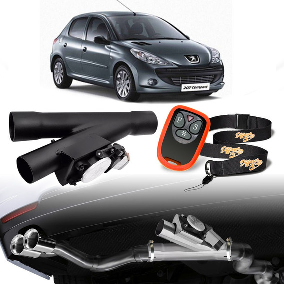 Difusor Escapamento Esportivo Universal Carbono Peugeot 207