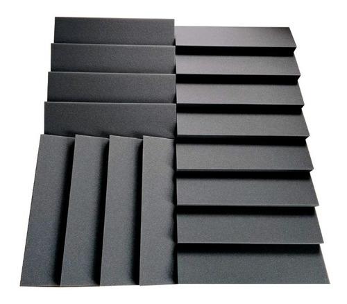 Kit Acústico Pro 12 Panels 50x50x5 + 6 Basstraps De 50x28