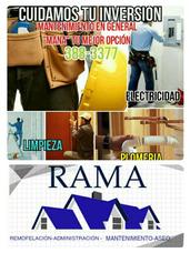 Remodelacion, Mantenimiento, Aseo Y Administración. Rama