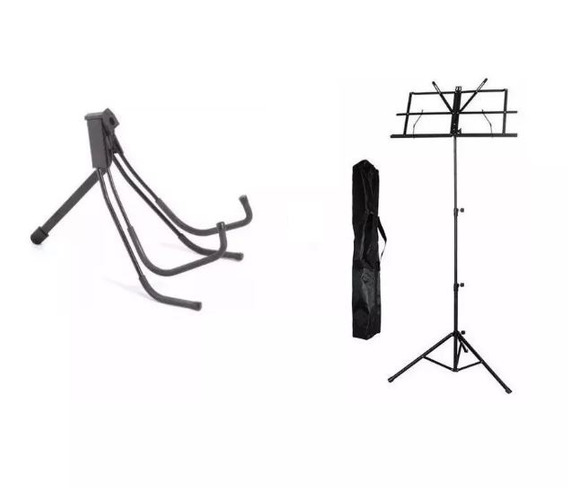 Suporte Ibox Sgv De Chão Para Violão + Estante De Partitura
