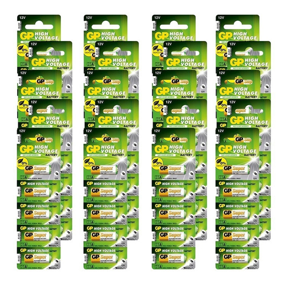 100 Bateria Gp Batteries Alcalina High Volt 12v 23afkx-c5x20