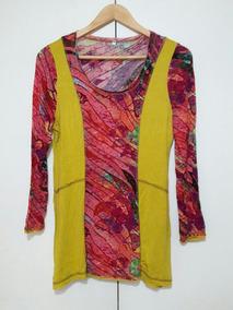 2x1 Bluson Tipo Mini Vestido Spandex Estilo Umbral Desigual