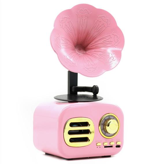 Caixa De Som Vitrola/gramofone Rádio Bluetooth Usb Sd Ft05