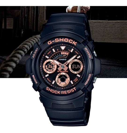 Relógio Casio G-shock Masculino Anadig Aw-591gbx-1a4dr Preto