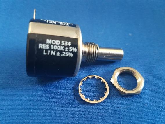 Potênciometro Multivoltas Vishay-spectrol Mod.:534 100k Ohms