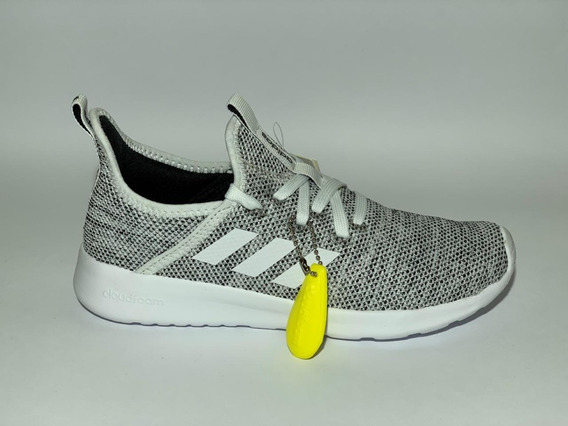 Tênis adidas Cloudfoam Pure Cinza/branco